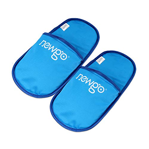 NEWGOIce Pack Slippers for Plantar Fasciitis 2 Pack Foot Ice Pack Cold Therapy Slipper for Sore Feet, Swelling, Edema, Arch, Chemotherapy, Post Partum Foot - 11.41' X 5.51'