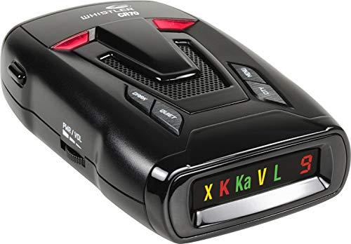Whistler CR70 Laser Radar Detector: 360 Degree Protection and Voice Alerts - Black