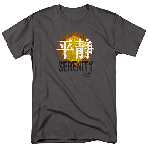 Firefly Serenity Sci-Fi TV Show T Shirt & Stickers (XXXX-Large) Charcoal