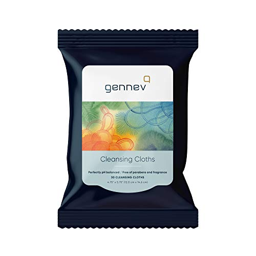 Gennev Feminine Wipes (30 Count), Cleansing Cloths for Women, Ultra-Gentle and Moisturizing for Sensitive Skin, All-Natural for Your Intimate Area, pH-Balanced, Free of Parabens and Fragrance