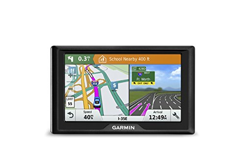 Garmin Drive 61 USA LM GPS Navigator System with Lifetime Maps, Spoken Turn-By-Turn Directions, Direct Access, Driver Alerts, TripAdvisor and Foursquare Data (Renewed)