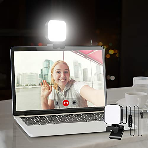 Aulynp Video Conference Lighting Kit, Laptop/Computer Monitor LED Video Light Dimmable 6500K Webcam Light for Remote Work, Online Meeting/Education, Zoom Calls, Live Streaming - PC Accessories