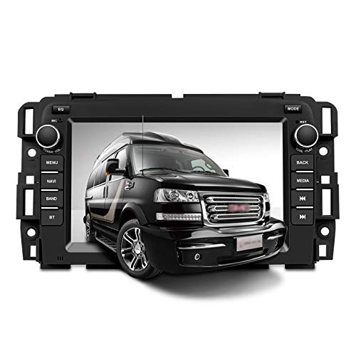 Car Radio Stereo in Dash Navigation for GMC Sierra Yukon Buick Chevy Silverado,7 inch HD Touchscreen Android 10.0 Bluetooth with Rear View Camera,32GB SD Card,3.5mm Mic …
