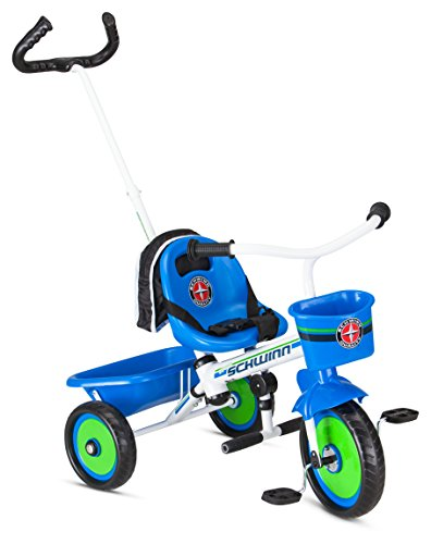 Schwinn Roadster Kids Tricycle, Easy Steer Tricycle, Blue