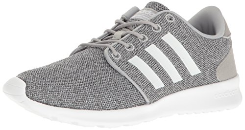adidas Women's Cloudfoam QT Racer Xpressive-Contemporary Cloadfoam Running Sneakers Shoes, clear onix/white/clear onix, 11 M US
