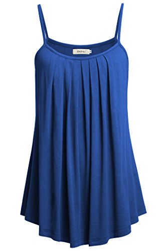 BEPEI Women Summer Tanks, Cami Spaghetti Strap Tops Sexy Casual Shirts,Royal Blue,Small