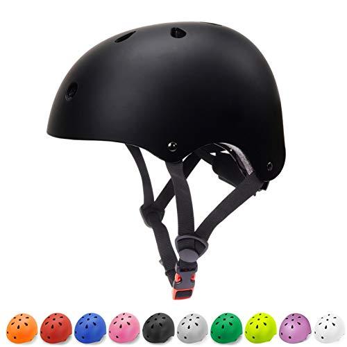 Kids Helmets Toddler Bike Helmet 3-8 Kids Helmet Multi-Sport Skateboard Cycling Helmet CPSC Certified Impact Resistance Ventilation Adjustable Helmet for Kids Bike Helmet (Black, Small)