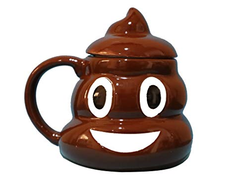 Aryellys Poop Shaped Coffee Mug, 20 oz Ceramic Coffee Mug with Lid, Premium Quality Funny Coffee Mug, Novelty Coffee Mugs, Coffee Mugs for Women and Men, Perfect Gifts for Kids