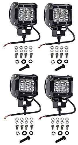 Cutequeen 4 X 18w 1800 Lumens LED Spot Light for Off-Road SUV Boat 4x4 Lamp Tractor Marine Off-Road Lighting Rv ATV(Pack of 4)