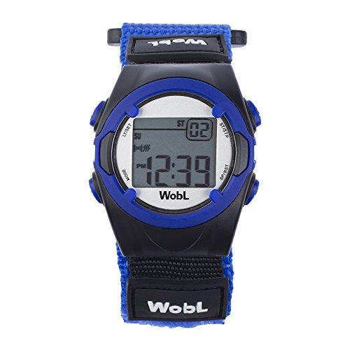 WobL Vibrating 8-Alarm & Repeating Countdown Timer Watch for Kids & Adults, Medication/Sports/Meetings/Potty Reminders, Blue