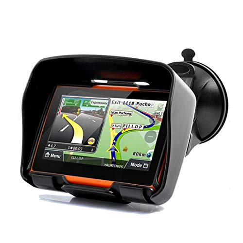 LLCPOWER 4.3 Inch All Terrain IPX7 Waterproof Motorcycle GPS Navigation System, Rugged Design for Harsh Weather, Live Traffic and Weather, The Same Applies to Cars