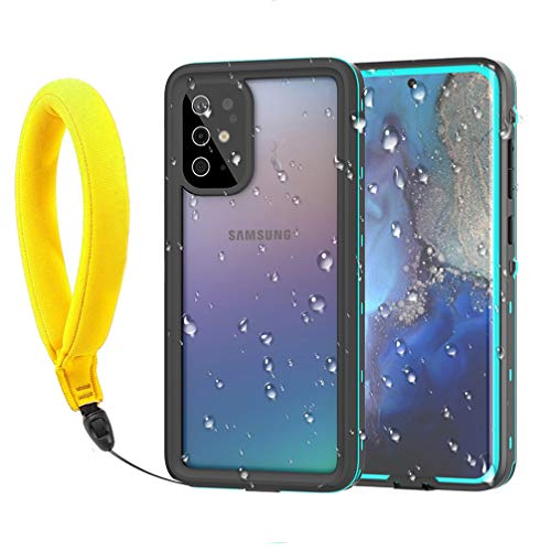 Anyos Samsung Galaxy S20+Plus Waterproof Case, Galaxy S20+ IP68 Underwater Case Built in Screen Protector 360° Full Body Protective Shockproof Dustproof Snowproof Cover with Fingerprint ID, Clear/Blue