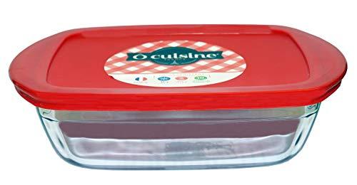 OCUISINE Cook & Store Container Rectangular 1,1 litros red