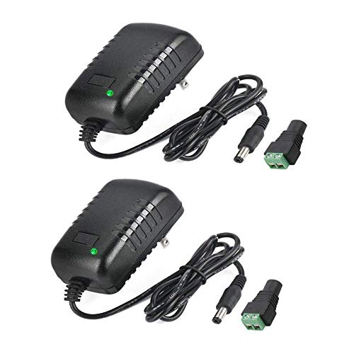 AC Adapter, YIFENG 12V / 2A AC DC Switching Power Supply Adapter(Input 100-240V, Output 12V 2A) with DC Connector Gift