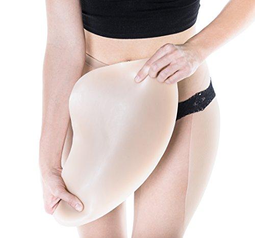 Sculptress Women's Silicone Hip Pads - Standard Length/Size D/Fair Color