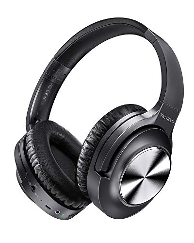 Active Noise Cancelling Headphones VANKYO C750 Bluetooth Headphones Over Ear with Microphone Wireless Headset Hi-Fi Stereo Deep Bass with 30H Playtime, Protein Earpads for Travel Work TV PC Cellphones