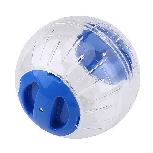 Delaman Hamster Ball Plastic Small Pet Exercise Ball, for Gerbil, Hamster Running Activity (Blue)