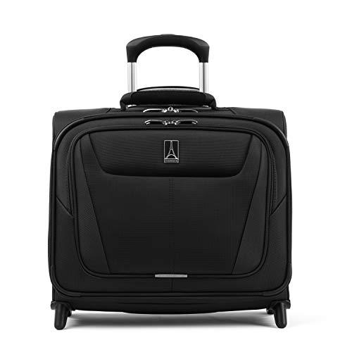 Travelpro Maxlite 5 Softside Lightweight Underseat Rolling Tote Bag, Black, 16-Inch