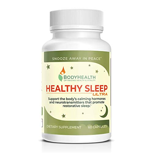 Healthy Sleep Ultra: Support for Restorative Sleep w/Melatonin. Stress & Anxiety Relief Sleeping Aid for Adults & Kids, (Non Habit Forming) (60 Capsules)