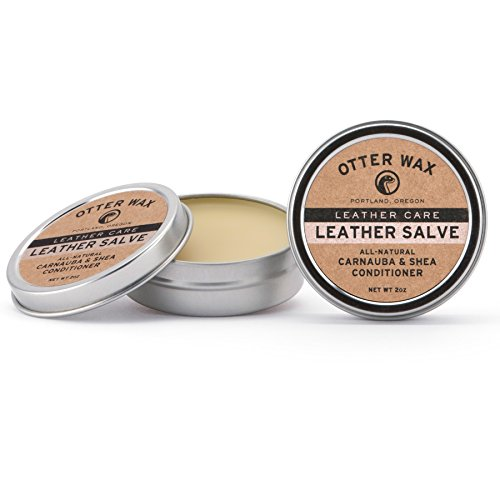 Otter Wax Leather Salve   2oz   All-Natural Universal Conditioner   Made in USA