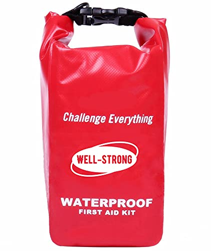 WELL-STRONG Waterproof First Aid Kit Kayak Accessories Boat Emergency Kit for Fishing Kayaking Boating Camping