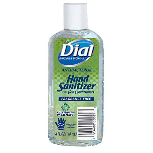 Dial Professional 00685 Dial Instant Hand Sanitizer With Moisturizers (Flip top cap) 4 Oz. (24-Pack)