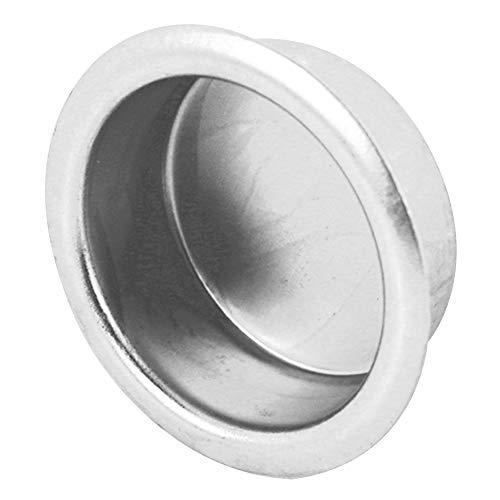 Slide-Co 164423 Closet Door Finger Pull, 3/4-Inch, Solid Brass, Satin Nickel,(Pack of 4)