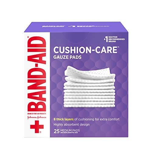 Band-Aid Brand Medium Gauze Pads, 25 Count