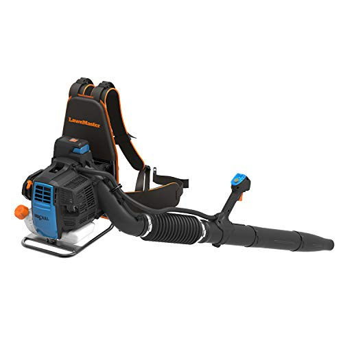 LawnMaster NPTBL31AB No-Pull Backpack Leaf Blower, Gas-Powered with Electric Start, 31cc 2-Cycle Engine, 470CFM, 175MPH
