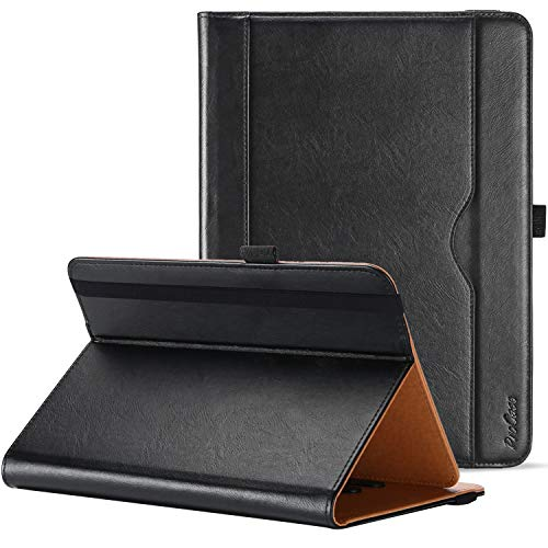 ProCase Universal Case for 9 - 10 inch Tablet, Stand Folio Universal Tablet Case Protective Cover for 9' 10.1' Touchscreen Tablet, with Adjustable Fixing Band and Multiple Viewing Angles – Black