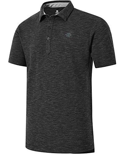 MoFiz Men's Golf Shirts Polo Jersey T-Shirts Sports Polo Shirts Performance T-Shirts Size Black XL