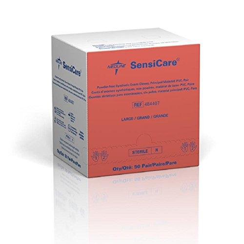 Sensicare Sterile Pf Vinyl Exam Gloves Large 50 Pair