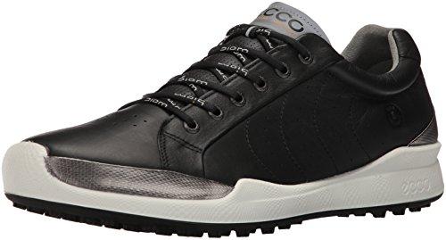 ECCO Men's Biom Hybrid Hydromax Golf Shoe, Black/Black Solid, 46 M EU (12-12.5 US)