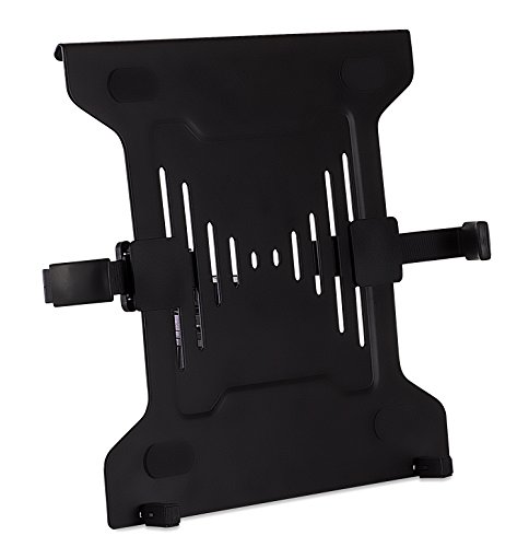 Mount-It! Laptop VESA Mount Tray | Laptop Holder Arm Mount Attachment | Vented Notebook Tray | Laptop Tray Clamp for Monitor Stand 75mm & 100mm VESA