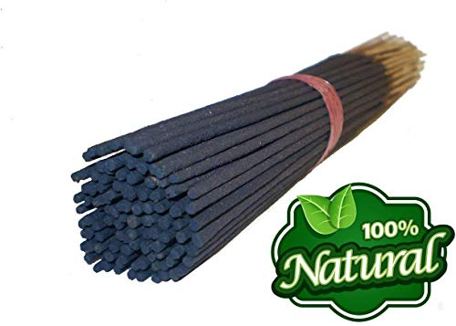 Bless International 100%-Natural-Incense-Sticks Handmade-Hand-Dipped -Each Scent 100 Incense Sticks -Combo of 3 Best Scent (Nag Champa-Frankincense and Myrrh-Rose)