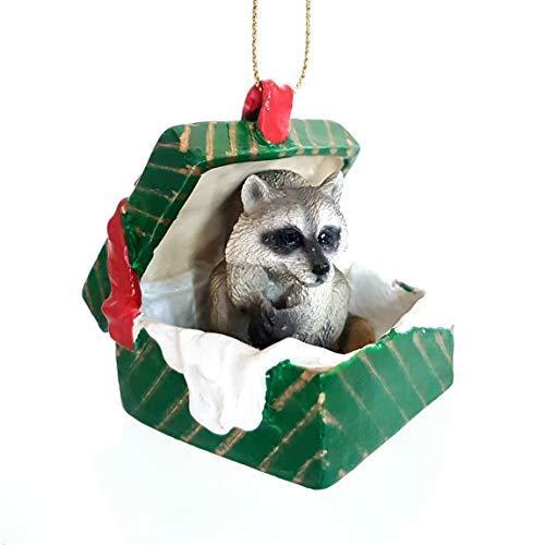 Raccoon Gift Box Christmas Ornament - DELIGHTFUL!