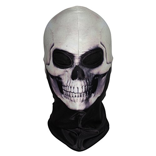 WTACTFUL 3D Skeleton Lycra Masks Scary Skull Balaclavas Ghost Headwear Cosply Costume Halloween Party Ski Full Face Mask