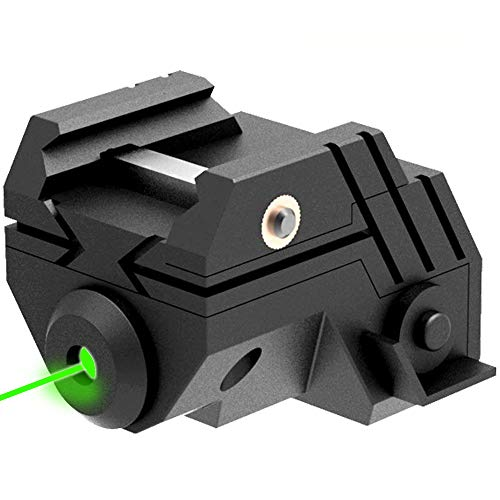 Laspur Mini Sub Compact Tactical Rail Mount Low Profile Laser Sight, Build-in Rechargeable Battery for Pistol Rifle Handgun Gun (RED Laser)