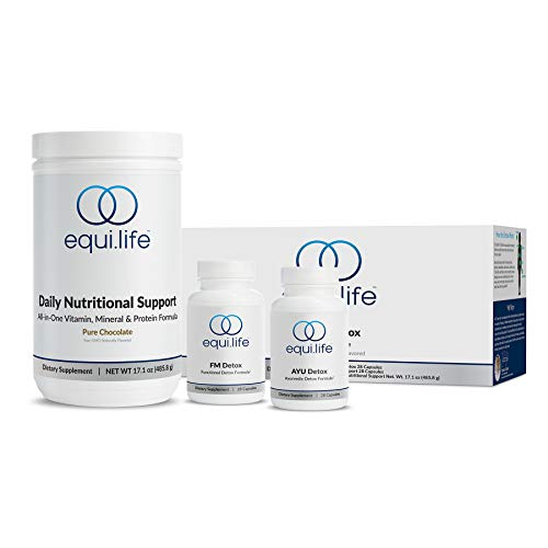 EquiLife - Dr. Cabral Detox, 7-Day Full-Body Detox, Weight Loss & Wellness System, Liver Detox Cleanse, Boosts Energy & Metabolism, Helps Mental Clarity, Aids Stress Relief (Chocolate, 14 Servings)