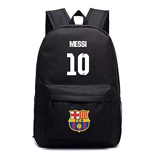 Kids Back to School Messi Backpack Barcelona Backpack Outdoor Travel Black Age8
