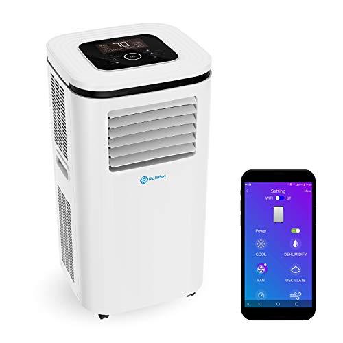 Rollibot ROLLICOOL Portable Air Conditioner w/App & Alexa Voice Control   Wi-Fi Enabled Portable AC & Dehumidifier   Quiet Operation, Easy Installation (12,000 BTU)
