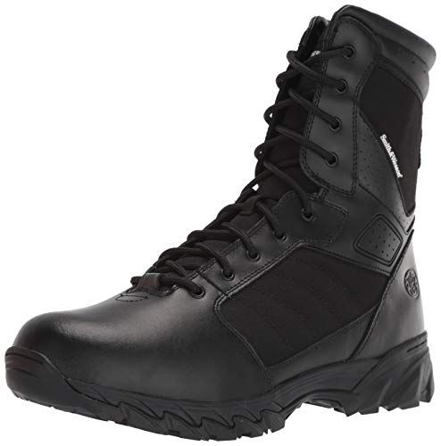 Smith & Wesson Footwear Men's Breach 2.0 Tactical Size Zip Boots, Black, 10.5