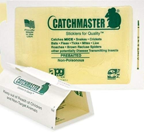 72 Catchmaster Mouse Insect Glue Boards 72mb Mice Roach Spider Flea Sticky Trap'