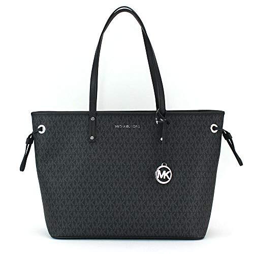 Michael Kors Drawstring Handbag 35F9STVT5V-001 , Black/Silver , Large