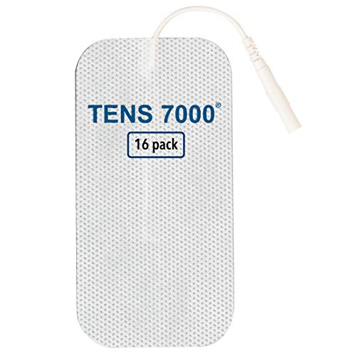 TENS 7000 Official TENS Unit Pads - Premium Quality OTC TENS Pads, 2' X 4' - Compatible with Most TENS Machines, Replacement Electrodes Value Pack, 16 Count