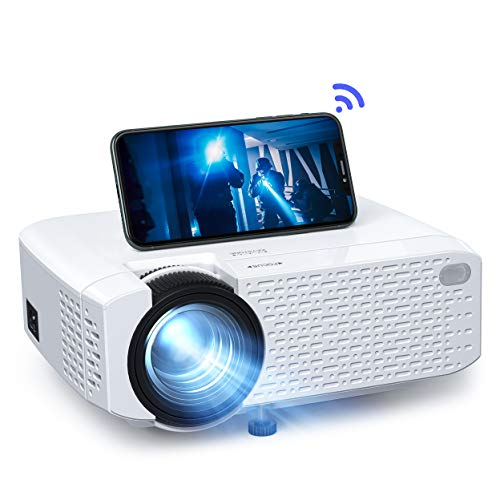 Phone Projector, Mini Portable WiFi Movie Projector Crosstour, Home Theater LED Wireless Video Projector for iPhone Android iPad, Support 176' Screen HD 1080P, Compatible with HDMI USB TV Stick PS4