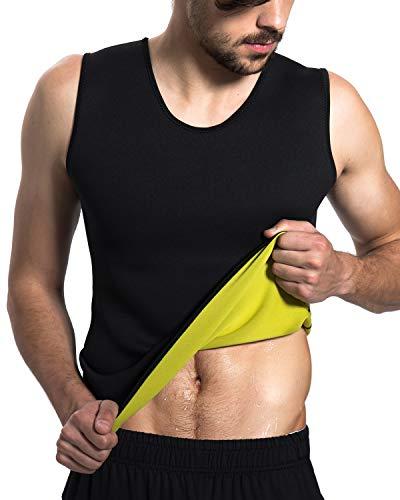 Roseate Men's Body Shaper Hot Sweat Workout Tank Top Slimming Sauna Vest Neoprene Compression Thermal Shirt XL