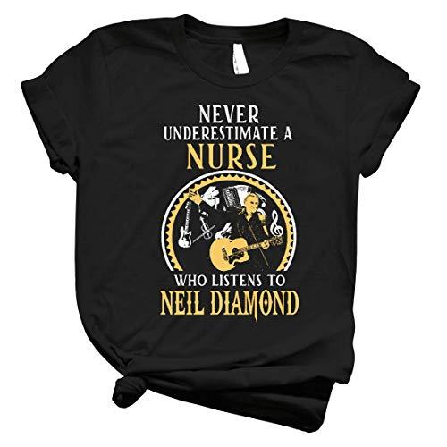 Neil Diamond Nurse Listens to Neil Diamond T-Shirt Long Sleeve Sweatshirt Hoodie