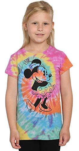 Disney Girls T-Shirt Minnie Mouse Print Tie Dye (Tie Dye, X-Large)