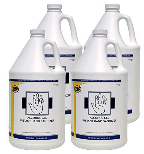 Zep Alcohol Gel Hand Cleaner/Sanitizer 1 Gallon 87824 (Case of 4) Residue Free Formula - MADE IN U.S.A with premium quality ingredients